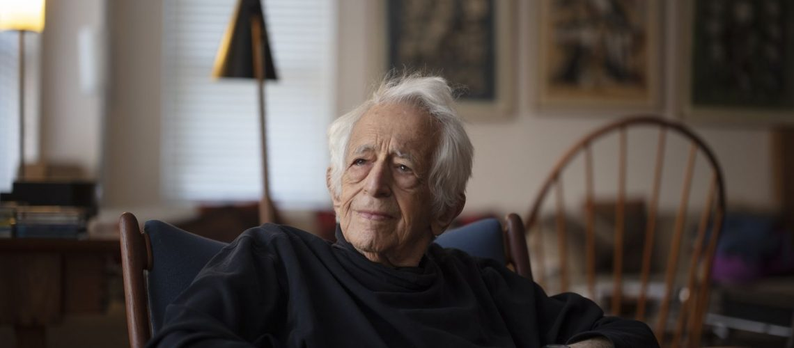 Philosopher Richard Bernstein photographed for El Pais at his home in New York City